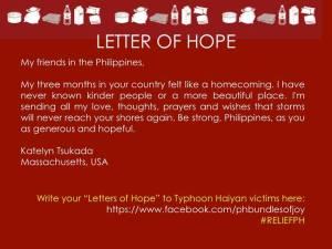 letter of hope