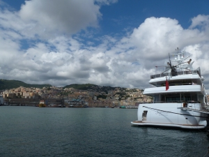 Yes, there is a helicopter on top of that yacht.
